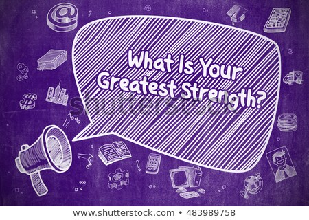 Competitive Advantage - Business Concept on Purple Chalkboard. Stock photo © tashatuvango