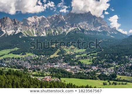 Cristallo mountain at daylight Stock photo © frimufilms