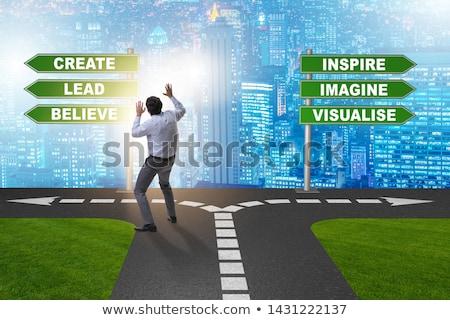 ビジネスマン 選択 立って 芸術 将来 ストックフォト © Elnur