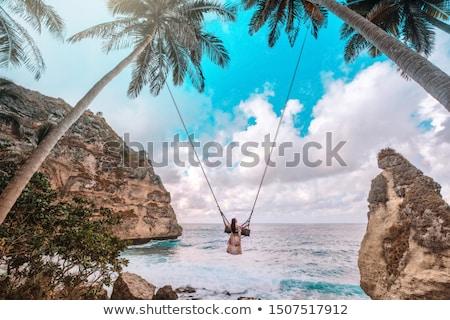 Plaży wyspa Indonezja widok z lotu ptaka charakter lata Zdjęcia stock © boggy
