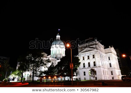 Detail of State Capitol Building in Indianapolis Stock photo © benkrut