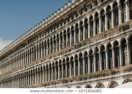 arcades of facade at san marco square in venice stock photo © vapi
