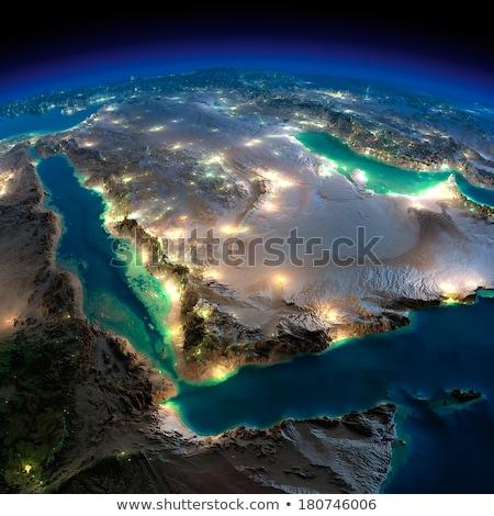 Detailed Earth at night. Saudi Arabia Stock photo © Antartis