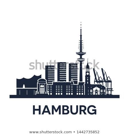 Hamburg Almanya ayrıntılı versiyon katı Stok fotoğraf © unweit