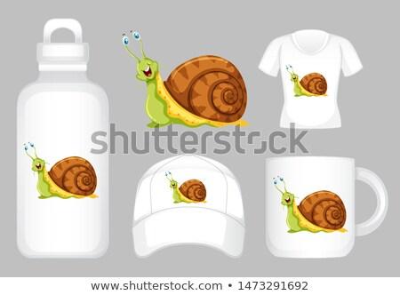 Grafiki inny produktów cute ślimak ilustracja Zdjęcia stock © bluering