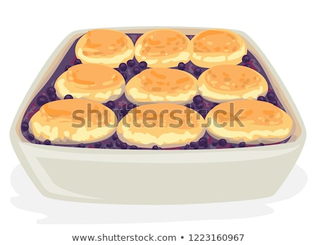 American Food Blue Berry Cobbler Illustration Stock photo © lenm