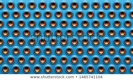 Blue Black and Orange Embossed Round Loudspeaker Background Vect Stock photo © cidepix