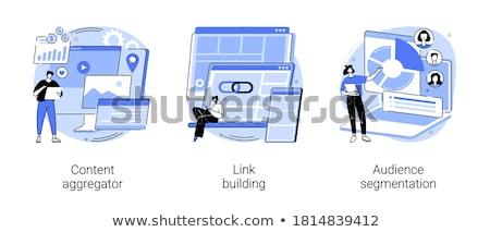 Stock fotó: Seo · vektor · metaforák · keresőoptimalizálás · szolgáltatás · ikon · szett