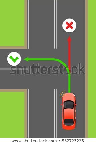 Samochodu obracać rządzić wektora schemat świetle Zdjęcia stock © robuart