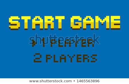 Inicio juego uno dos jugadores opción Foto stock © robuart