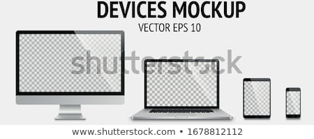 Laptop Computer Electronic Gadget Color Vector Stock photo © pikepicture