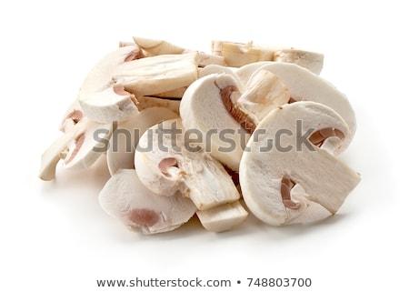 Slices of mushroom isolated on white background Stock photo © boggy