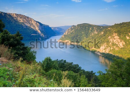 Cruise ship on Danube river in the Iron Gates also known as Djer Stock photo © boggy