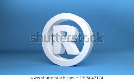 3D Registered Trademark Sign  Stock photo © AndreyPopov
