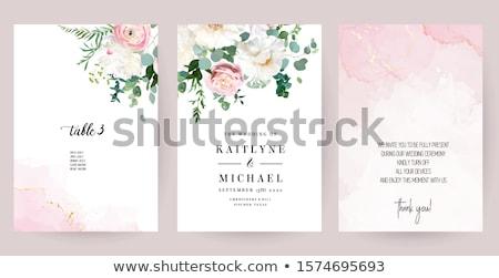 Boeket bloemen luxe marmer bruiloft evenement Stockfoto © Anneleven