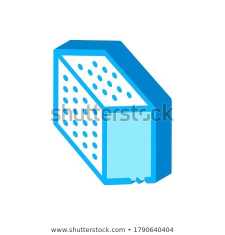 Küp izometrik ikon vektör imzalamak Stok fotoğraf © pikepicture