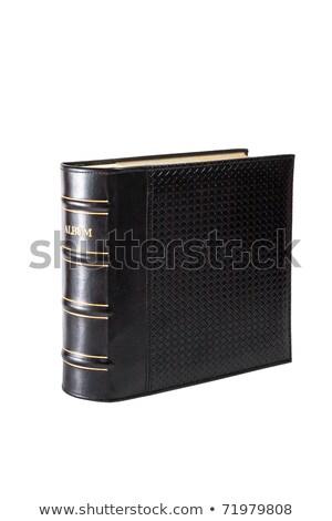 Büyük albüm yalıtılmış beyaz siyah belge Stok fotoğraf © premiere