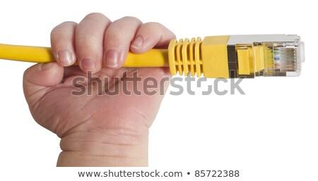 Baby giallo rete plug mano Foto d'archivio © gewoldi