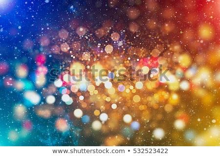 Abstrato colorido natal papel de parede luz bola Foto stock © pathakdesigner