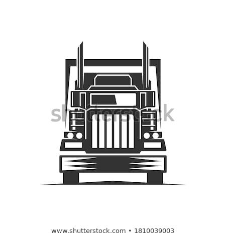 Groot vrachtwagen laden verkeer snelweg weg Stockfoto © lalito