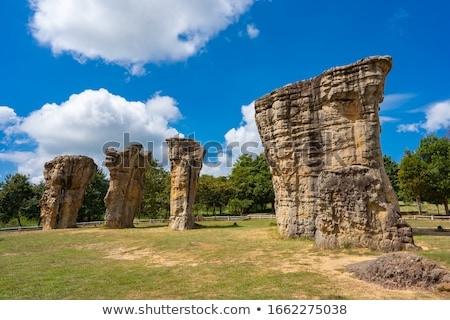 mor hin khao thailand stonehenge with beautiful field stock photo © vichie81
