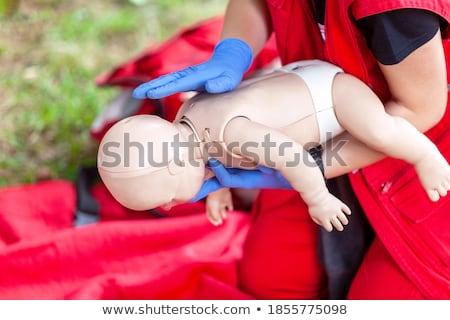 bebê · silicone · chupeta · isolado · branco · vermelho - foto stock © pakhnyushchyy