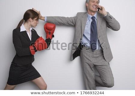 üzletasszony box férfi telefon üzlet nő Stock fotó © photography33