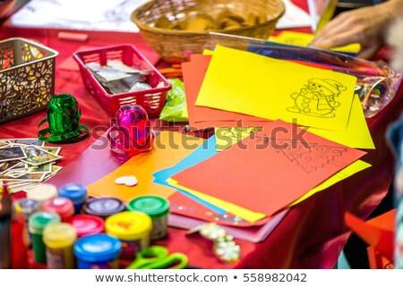 Enfants Kid fête salissant coloré papier Photo stock © lunamarina