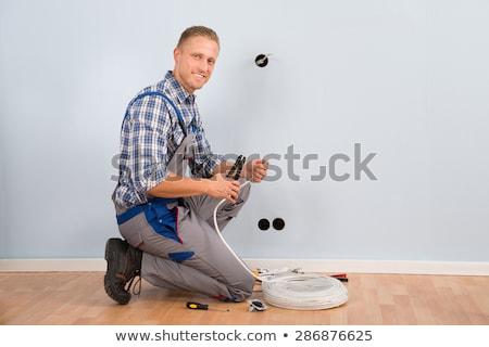 tel · elektrikçi · çalışma · çalışmak · işçi - stok fotoğraf © photography33