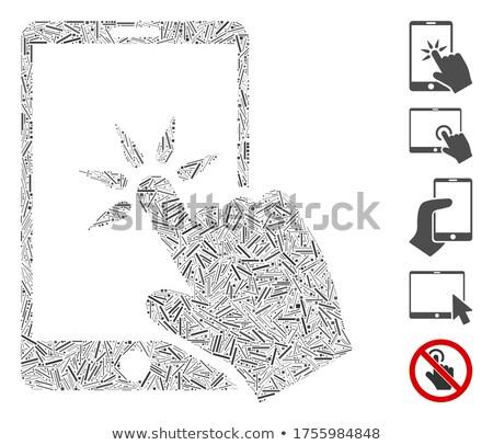 Tıklayın el imleç düğme tahta dizayn Stok fotoğraf © bbbar