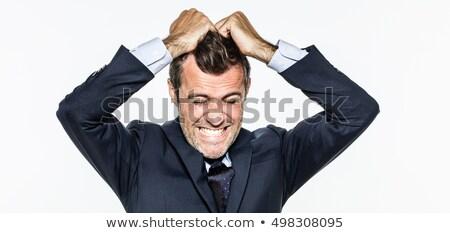 человека волос служба глазах работу Сток-фото © photography33