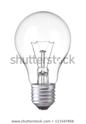 Stockfoto: Gloeilamp · geïsoleerd · zwarte · bevroren · licht