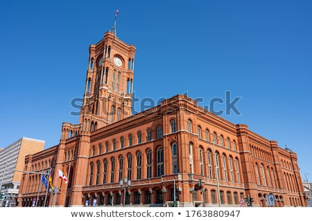 detail of the Red Town Hall in Berlin Stock photo © prill