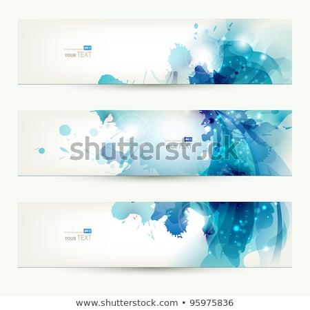 Három absztrakt vektor szalag fény terv Stock fotó © articular