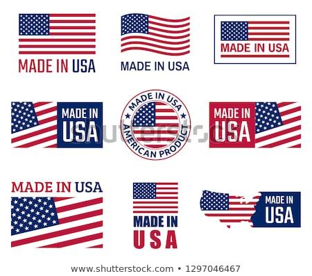 USA · címke · ikon · szalag · központi · fényes - stock fotó © perysty
