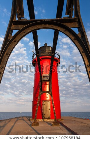 Lighthouse through Catwalk Approach stock photo © Kenneth_Keifer
