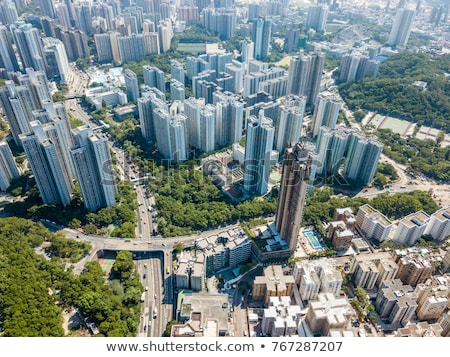 Hong Kong with crowded buildings at day time Stock photo © kawing921