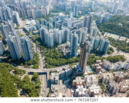 Hong Kong lleno de gente edificios día tiempo ciudad Foto stock © kawing921