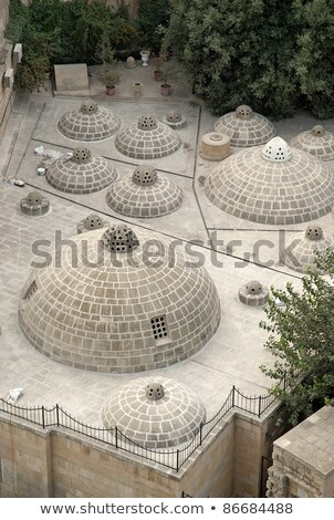 traditional rooftop domes in baku azerbaijan Stock photo © travelphotography