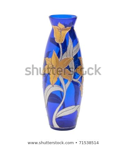 Homemade Stained Glass Vase Stock photo © cmcderm1