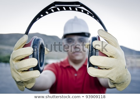 Builder with ear muffs Stock photo © photography33