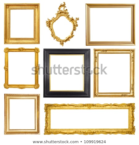 prata · vintage · photo · frame · isolado · branco · fundo - foto stock © oleksandro