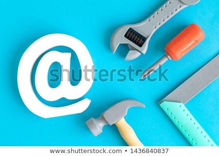 Rzemieślnik symbol Internetu pracy sieci Zdjęcia stock © photography33