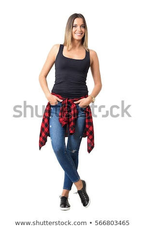 Full body young woman in casual clothes Stock photo © stockyimages