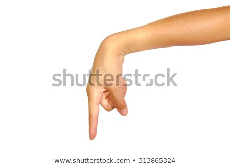 Hand pointing downwards Stock photo © photography33