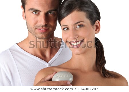Couple holding bar of soap Stock photo © photography33