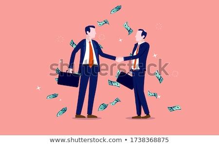 Money raining down on business team Stock photo © wavebreak_media