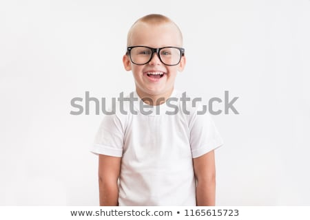 Garçon blanche shirt grand verres cute Photo stock © SLP_London