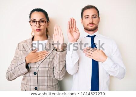 Kéz szent Biblia kezek könyv férfi Stock fotó © val_th