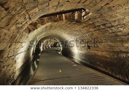 トンネル · 旧市街 · イスラエル · 地下 · 通り · 宮殿 - ストックフォト © eldadcarin